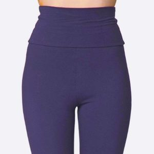 American Apparel High-Waist Leggings (Purple)